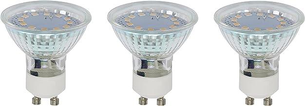 Briloner Leuchten 0520-003 A+, lampa LED, 3-częściowy zestaw, 3 W, 250 lumenów, GU10, srebrna, 5 x 5 x 5,8 cm