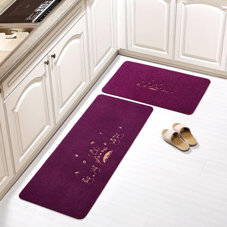 Door mat floor mats kitchen mats long strips water absorption oil absorption foot pad bathroom non-slip mat-P 50x240cm(20x94inch)