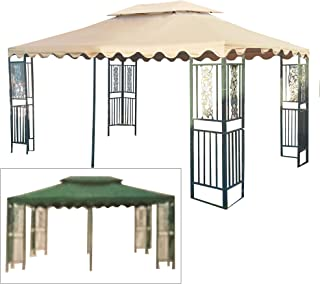Garden Winds Replacement Canopy Top Cover for The DC America 10 x 15 Two Tiered Gazebo - RipLock 350