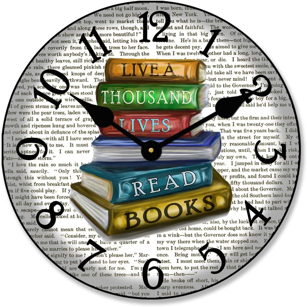 Library Wall Clock Available in 8 The Sizes Max 57% OFF Ranking TOP20 Ship Most Ne