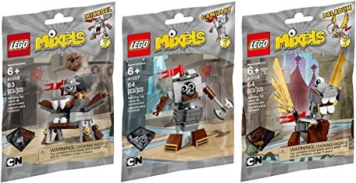 diseño único LEGO, LEGO, LEGO, Mixels Series 7 Bundle Set of Knights, Camillot (41557), Paladum (41559) and Mixadel (41558) by LEGO  Sin impuestos