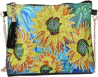 Generic DIY Diamond Painting Clutch Bag Special Shaped Diamond Painting Wallet Women Clutch Storage Bag with Chain 15 x 18cm - Sunflower