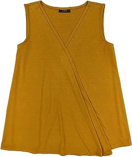 ALFANI Womens Orange V Neck Top AU Size:14