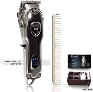 Hair Clippers for Men-Professional Hair Cutting Kit-Cordless Hair Trimmer-Rechargeable LED Display Metal Housing Heavy-Duty Motor with Guide Combs Brush-Cordless and Cord-Quiet Dog Grooming clippers
