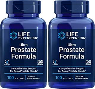 Life Extension Ultra Prostate Formula, 100 Softgels (Pack of 2) - Natural Supplement for Men
