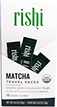 Rishi Matcha Travel Packs, Organic Green Tea Powder, 12 Packets