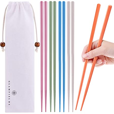 Fiberglass Chopsticks Premium Japanese Chopsticks Reusable /& Durable Design 10 Pairs Black Zulay Non Slip Chop Sticks With Textured Tips For Home /& Restaurant
