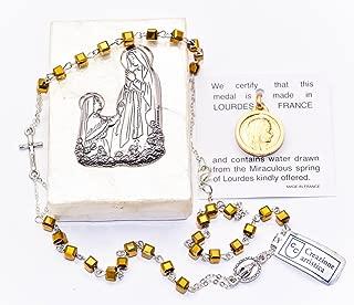 Catholic Gift Shop Ltd Wundert/ätige Medaille Halskette 925/Made in Lourdes Frankreich /& Gratis Lourdes Gebet Karten