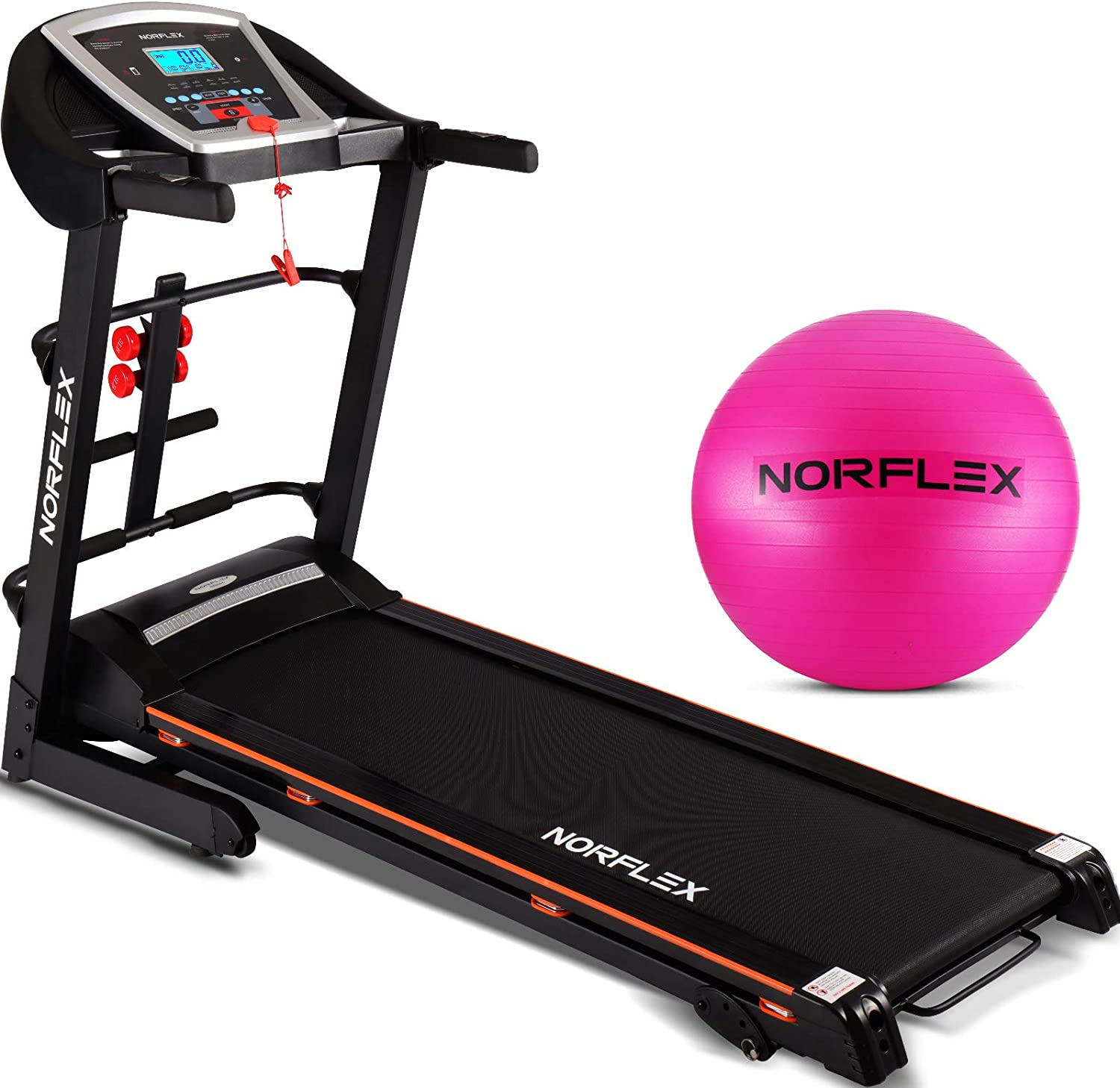 XR600E Self Powered Treadmill – Fordable Walking Desk – True Fitness Foldup Treadmill – 3 Level Incline 1.5 CHP Motor Power – Treadmill Safety Key for Health Rider – MP3 Connection by Norflex