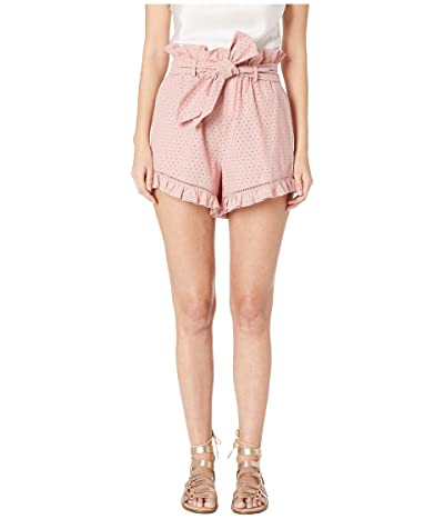 Jonathan Simkhai Embroidered Ruffle Shorts (Rose) Women