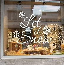 Missoul ❀❀❀ 2016 Christmas Christmas Let It Snow Window Wall Sticker Decorative Removable Wall Sticker 29''''X11''''