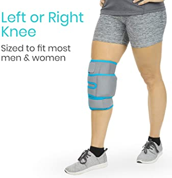 Vive Knee Ice Pack Wrap - Cold / Hot Gel Compression Brace - Heat Support Strap For Arthritis Pain, Tendonitis, ACL, ...