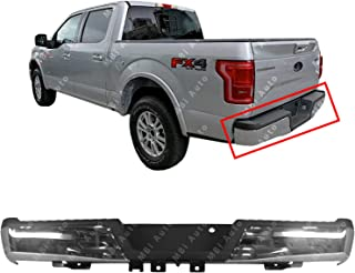 MBI AUTO - Chrome, Steel Rear Bumper Assembly for 2015 2016 2017 2018 Ford F150 Without Tow Hitch 15-18, FO1103183