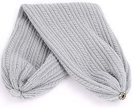 Hat Scarf Dual-Use Winter Fur Pom-Pom Beanies Scarves Man Woman Soft Cap,Gray