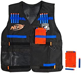 Official Nerf Tactical Vest N-Strike Elite Series Includes 2 Six-Dart Clips and 12..