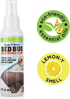 Eco-Friendly Bed Bug Spray - Non-Toxic Bed Bug Killer & Barrier - Essential Oil Formula Great Bedbugs Spray for Home, Mattress, Clothes, Travel - Skin Safe - Eagle Watch BedBugs Killers (3.3oz)