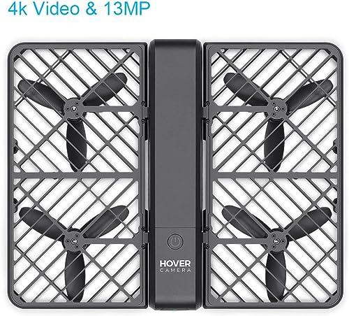 Precio por piso Hover Drone plegable con cámara pasaporte auto volador 360 360 360 grados Spin 4k Video &  13MP fotografía, auto-seguimiento, reconocimiento facial (pack de 4 baterías)  n ° 1 en línea
