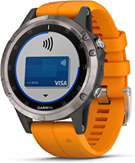 Garmin fenix 5 Plus Sapphire, Multisport GPS Smartwatch, Features Multinetwork Navigation, Advanced Performance Metrics, W...