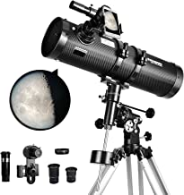 Telescope 130EQ Newtonian Reflector Telescopes for Adults, Great Astronomy Gift for Kids Adults,...