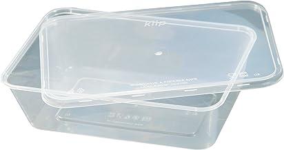 Kiip SLappeR 750ml×50個(本体・kiip共通フタセット・2パックセット)【冷凍保存・電子レンジ・食洗機対応タッパー=おまとめ買い・食品保存・テイクアウト・業務用】