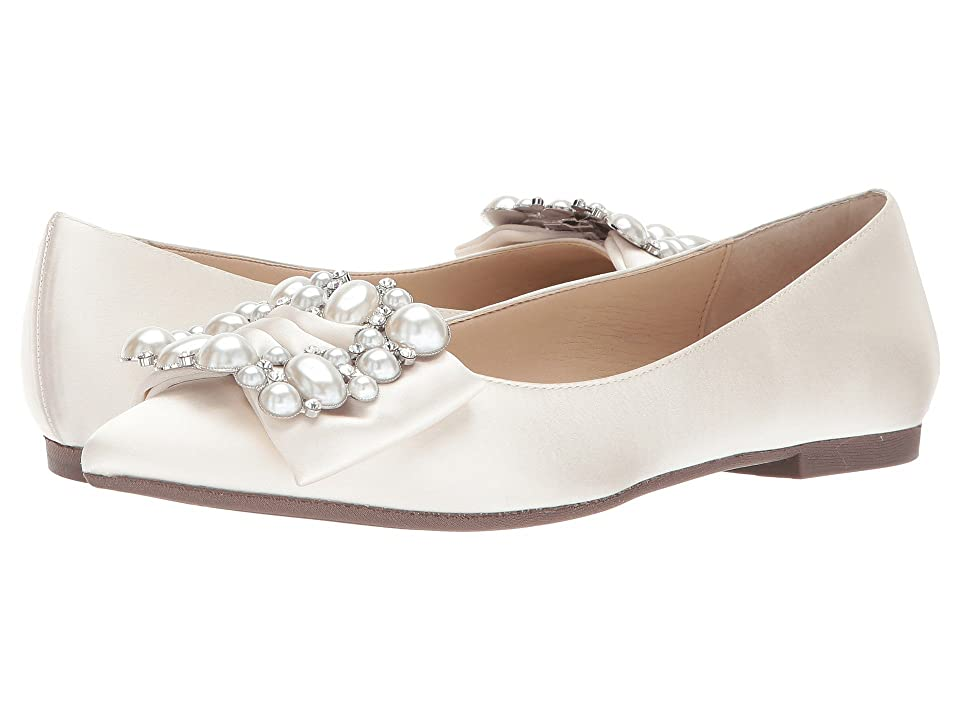 Nina Klea (Ivory Crystal Satin) Women