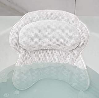 Bath Pillow Spa Bathtub Pillow with Upgraded Non-slip Suction Cups, Comfortable Head, Neck, Back & Shoulder Rest Support, Soft & Luxury Bathtub Cushion, Bath Accessories Fit Hot Tub, Jacuzzi