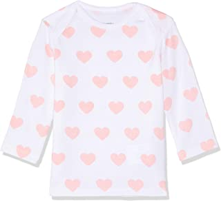 Petit Bamboo Baby Long Sleeve Top, Pink Hearts
