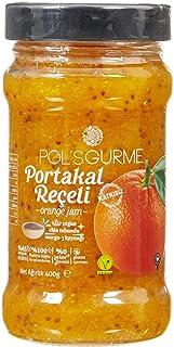 Pol's Helvart Gurme Chıa Tohumlu , %65 Meyve Oranlı Şeker İlavesiz Hurma Suyu İle Tatlandırılmış Portakal Reçeli 400 Gr