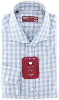 Barba Napoli Patterned Button Down Spread Collar Cotton Slim Fit Dress Shirt
