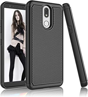 LG K40 Case, LG Solo LTE Case, LG Xpression Plus 2/K12 Plus/X4 2019/Harmony 3 Case, Njjex [Nveins] Hybrid Dual Layers Hard Plastic Back + Soft Silicone Rubber Armor Defender Slim Phone Cover [Black]