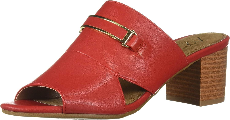 Aerosoles Womens Mid Air Heeled Sandal