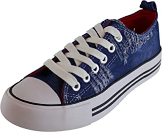 Cambridge Select Women's Classic Closed Cap Toe Lace-Up Canvas Low Top Fashion Sneaker