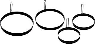 Cuisinart CGR-400, Size: 4 inch, 6 inch and 8 inch, Ultimate Griddle Ring Set, 4-Piece