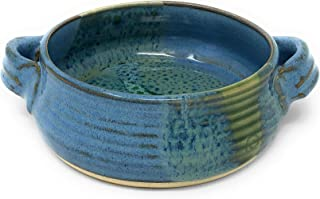 Mosquito Mud Pottery Brie Baker, Blue