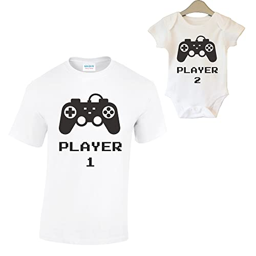 0bbcad53 Harvey Williams Dad and Son Matching T-Shirt and Vest Baby Grow Kids New  Born