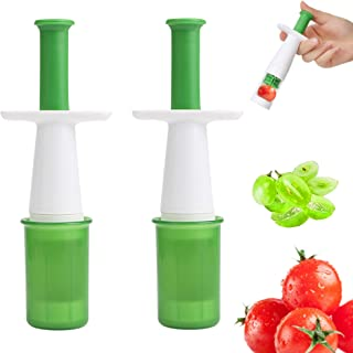KIMAIRY Grape Tomatoes Cutter Slicer For Toddlers Kids Baby Fruit Food Tools Auxiliary Cherry Fruit Slicer (2PCS)