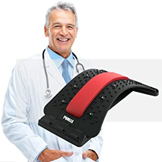 Lower Back Stretcher with Magnetic Acupressure Points Multi-Level Lumbar Stretching deviceLumbar for Pain Relief Chronic H...