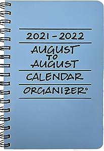 2021-2022 August to August Calendar Organizer - Sky (Blue)