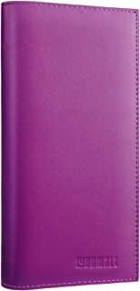 side tear checkbook cover leather