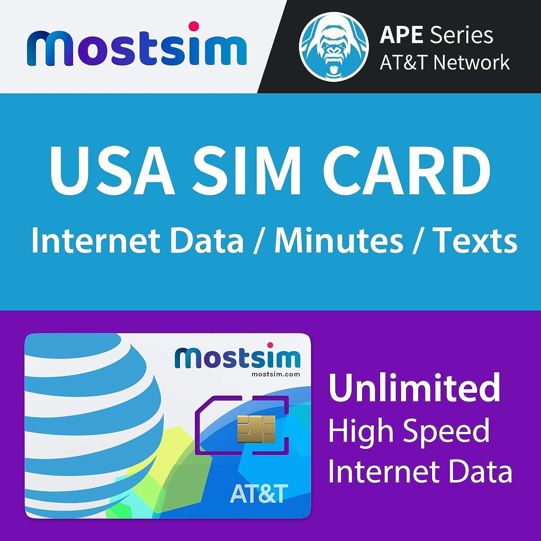 Mostsim At T Usa Sim Karte 7 Tage Unbegrenzte Elektronik