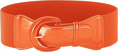 GRACE KARIN Women's Wide Stretchy Cinch Belt Vintage Chunky Buckle Belts S-XXXXL