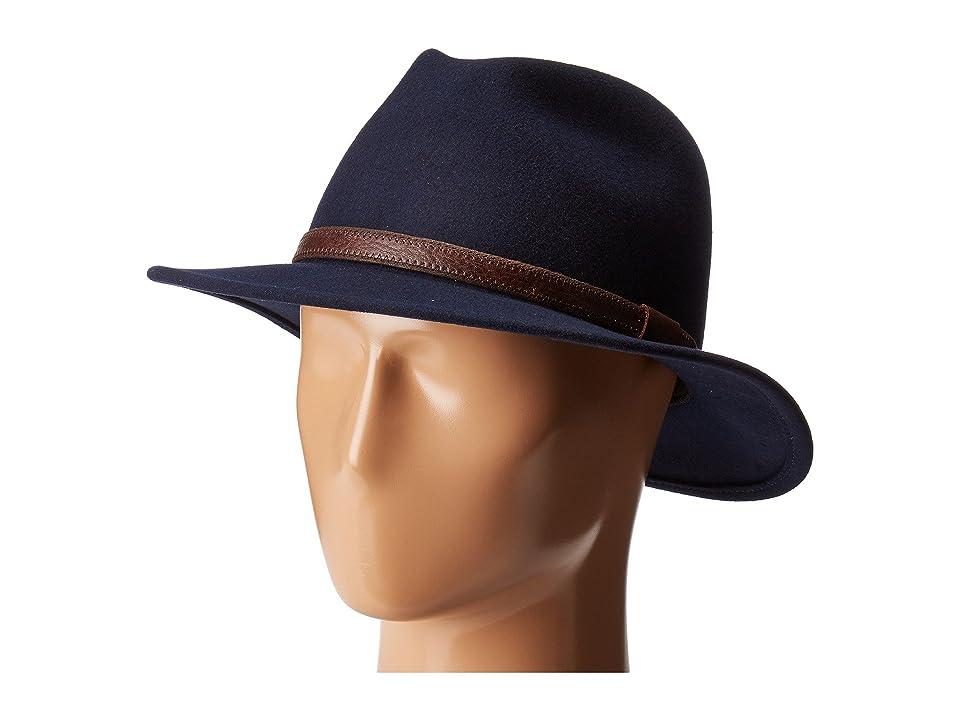 Country Gentleman Hamilton Drop Brim Fedora Hat (Navy) Caps