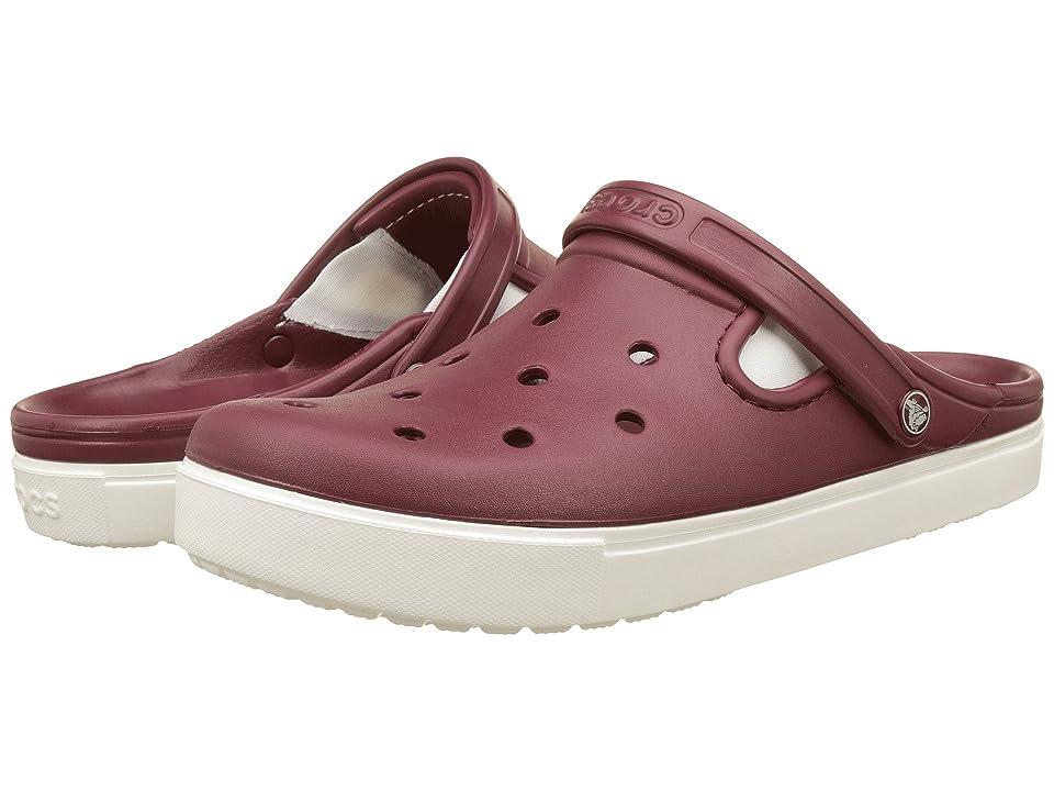 Crocs CitiLane Clog (Garnet/White) Clog Shoes