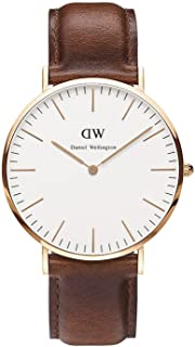 Men's 0106DW St. Mawes Stainless Steel Watch with Brown Band