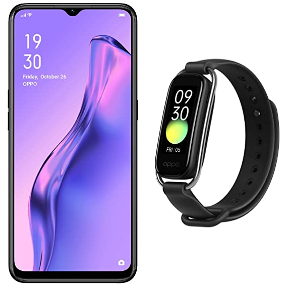 """OPPO A31(Mystery Black, 4GB RAM, 64GB Storage, with Offer) + OPPO Smart Band Style (Black) - 1.1"""" AMOLED Color Display, SPO2 Monitoring, 5 ATM, 12 Workout Modes"""