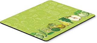 Caroline's Treasures BB5135MP Fruits and Vegetables in Green Mouse Pad, Hot Pad or Trivet, Large, Multicolor