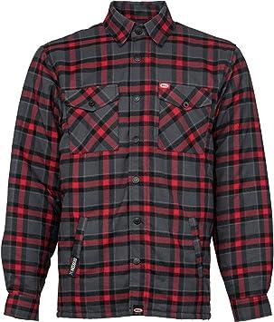 Bell Dixxon X Flannel Jacket Grey//RED Medium