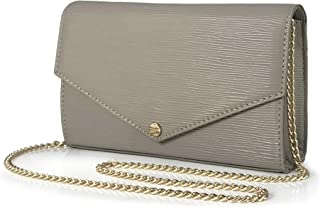 Envelop Evening Clutch Faux Suede Leather Women Chain Cross Body Bag