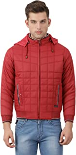 Monte Carlo Solid Red Coloured Men Polyester Jacket