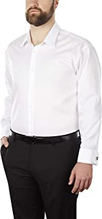 Calvin Klein Customized Men's Dress Shirt Non Iron Solid (Available in Regular, Slim, Extra Slim, and Big and Tall Fits)